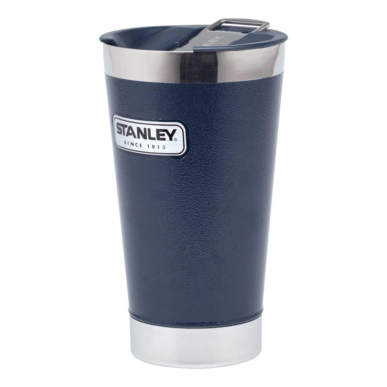 Stanley VACCUM PINT Becher 18/8 Edelstahl Vakuum-Isolation, Flaschenöffner, blau