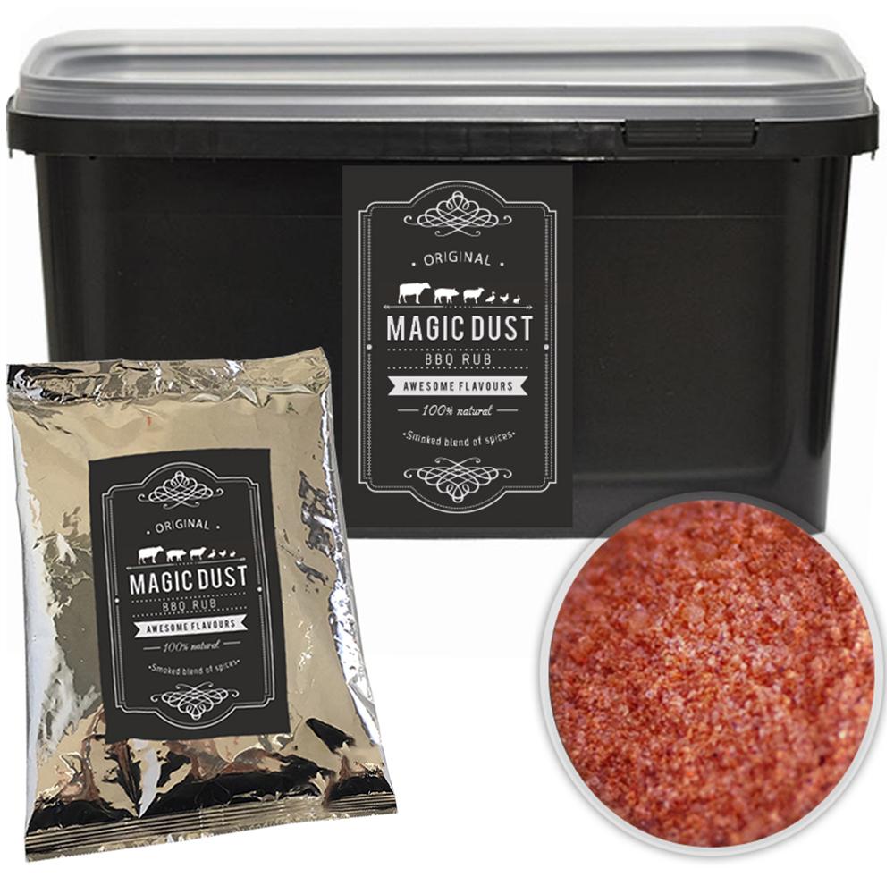 Magic Dust Rub BBQ 100% natürliches Grill Gewürz Trockenmarinade Eimer 500gr