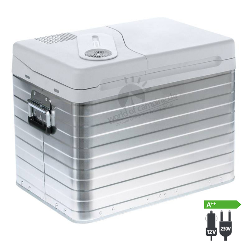 WAECO Mobicool Q40 AC/DC Thermoelektrische Kühlbox 12/230 Volt 39 Liter Alu Box