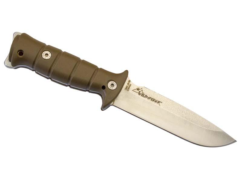 Wildsteer Outdoormesser TARASCO, Stahl X46Cr13, satiniert, 4 120313