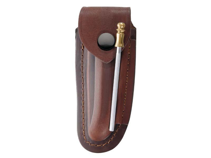 Braunes Leder-Etui, für Laguiole-Messer mit 12 cm Heftlänge 2676120