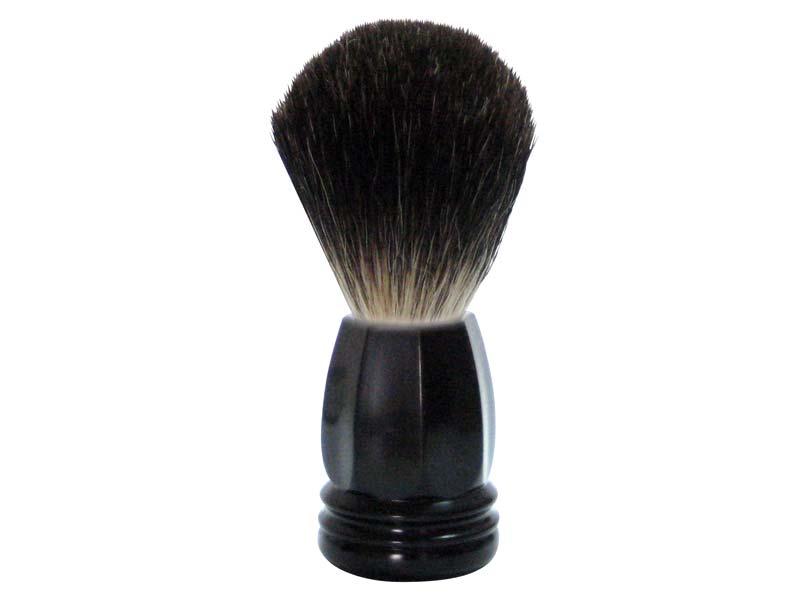 GOLDDACHS Rasierpinsel, 100% Dachshaar,Kunststoff, schwarz, matt 348622