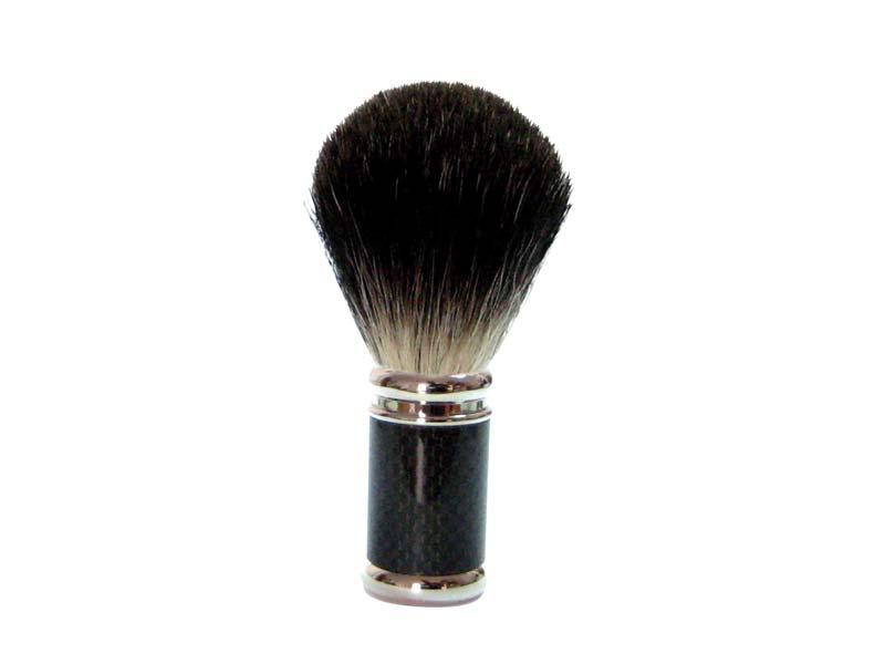 GOLDDACHS Rasierpinsel, 100% Dachshaar, Metall, silber, schwarz 348623