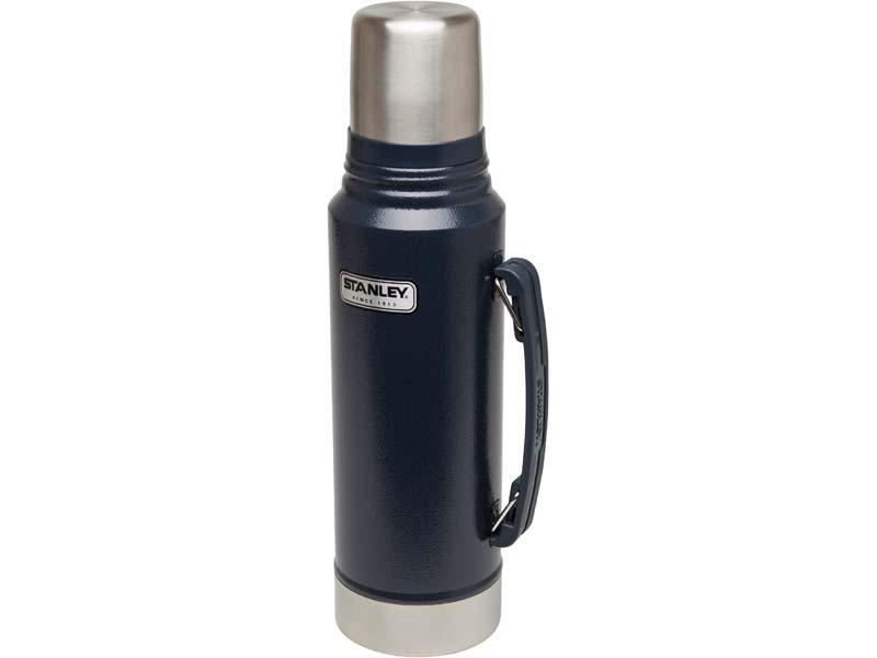 Stanley Classic Vakuum-Flasche, 1 Liter, 18/8 Edelstahl, Navy blau 624000