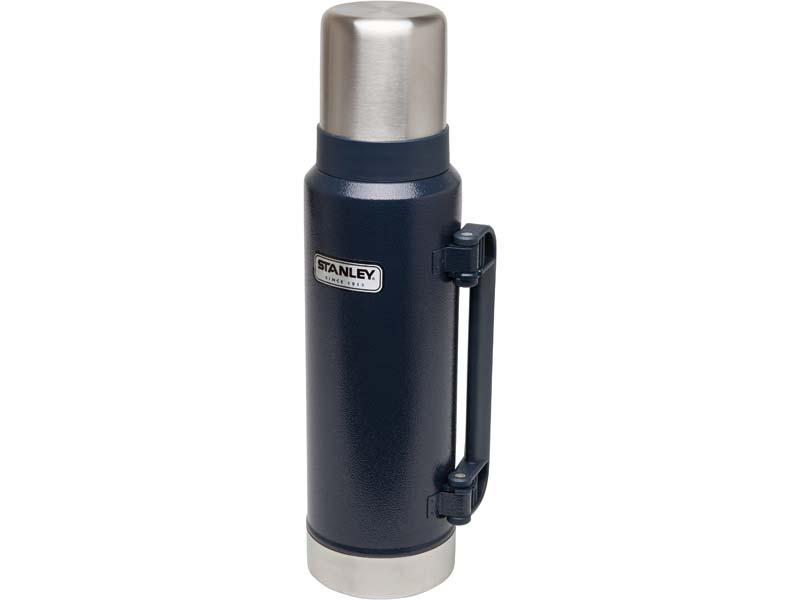 Stanley Classic Vakuum-Flasche, 1.3 Liter, 18/8 Edelstahl, Navy blau 658500