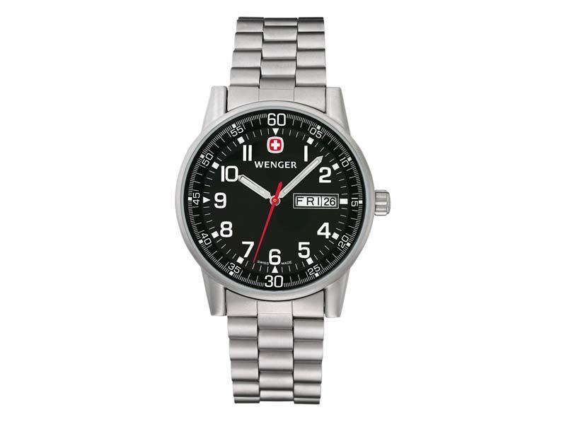 Wenger Uhr Commando Day Date XL, Edelstahl-Armband 70163