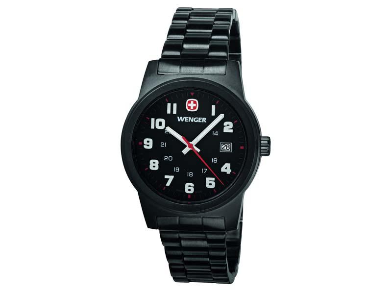 Wenger-Uhr, Field Classic, Black PVD, Edelstahlgehäuse 74411