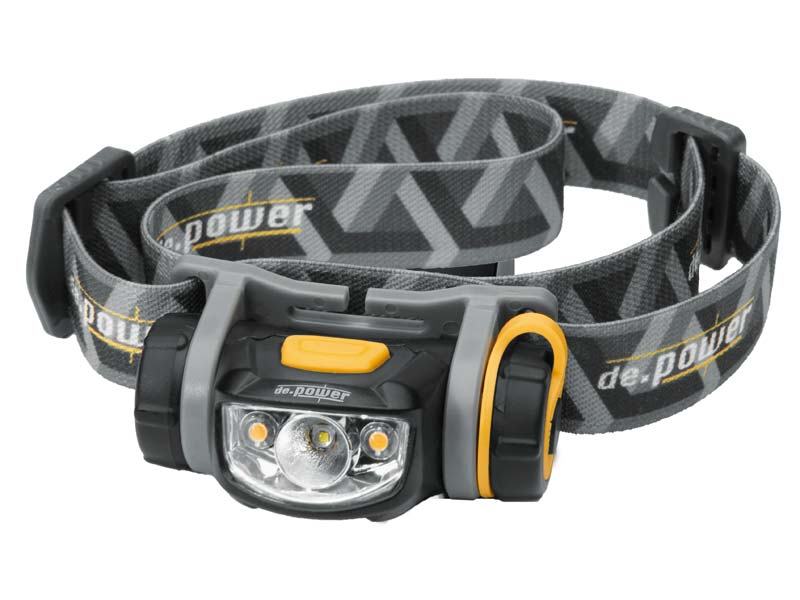 de.power LED Stirnlampe, 1 CREE LED, 2 Nichia LEDs, dimmbar 779000