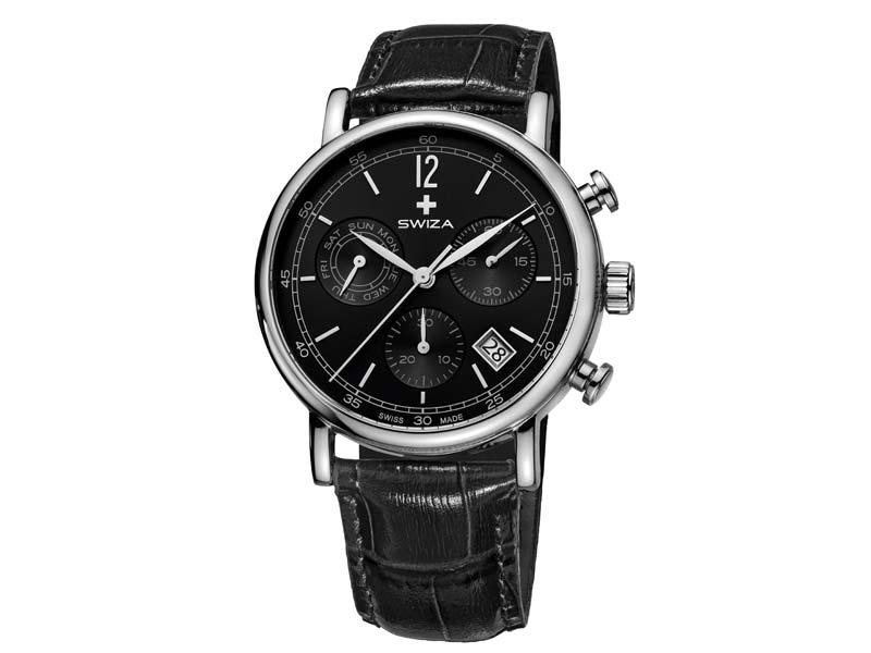 Swiza Uhr Alza Chrono, Schweizer Qualitäts-Quarzlaufwerk, Chronograph 78019