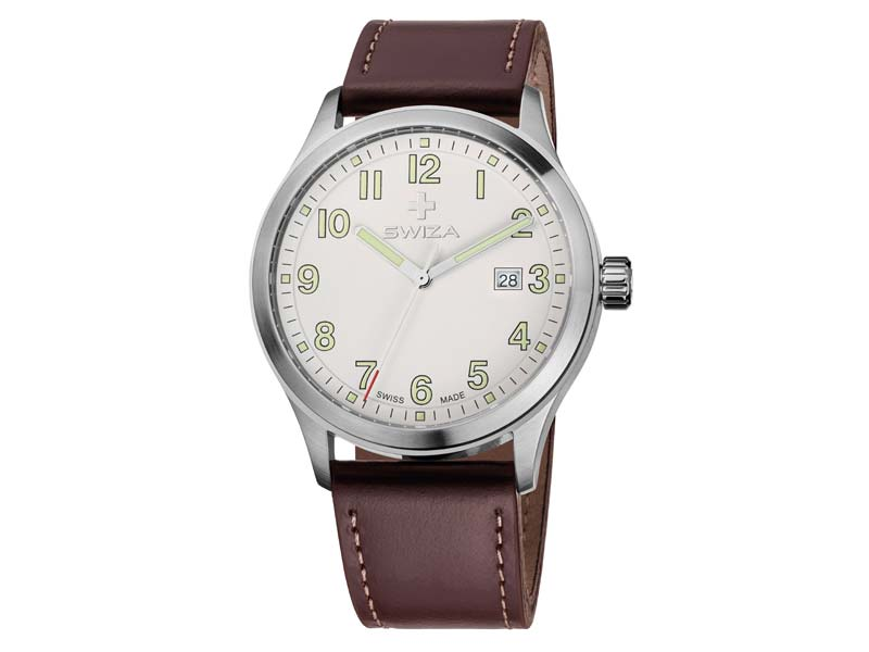 Swiza Uhr Kretos Gent, Schweizer Qualitäts-Quarzlaufwerk 78021