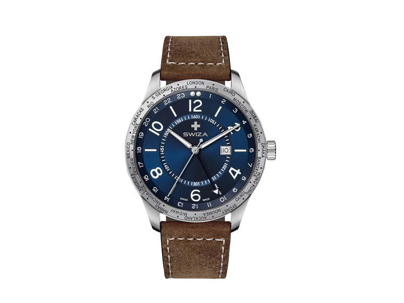 SWIZA Armbanduhr MAGNUS GTM, Ronda 514.24h Uhrwerk, 316 L Edelstahl 78053