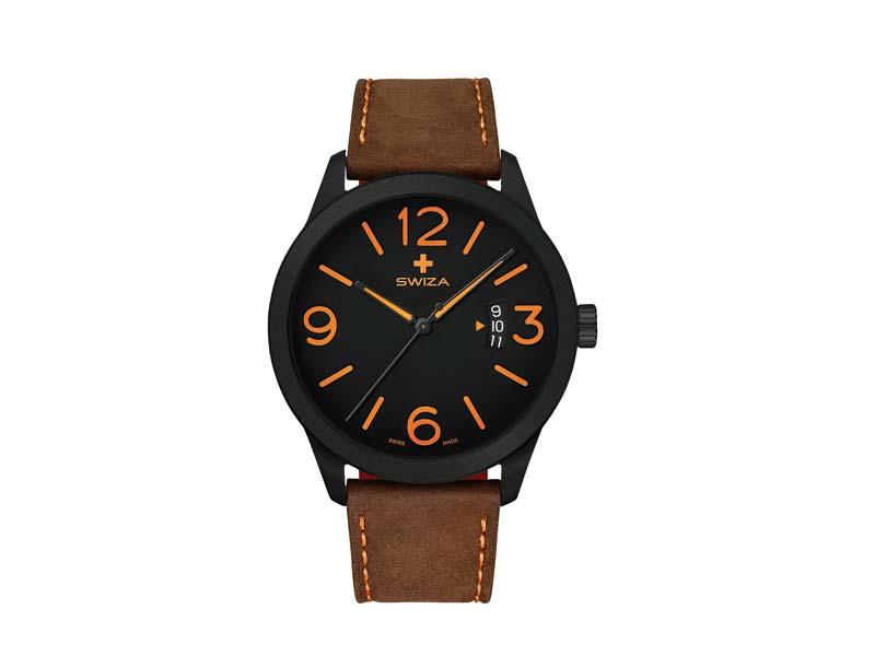 SWIZA Armbanduhr MAGNUS, ETA F07.111 Uhrwerk, Saphirglas, Stahl 316L 78057
