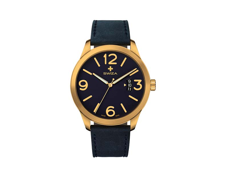 SWIZA Armbanduhr MAGNUS, ETA F07.111 Uhrwerk, Saphirglas, Stahl 316L 78058