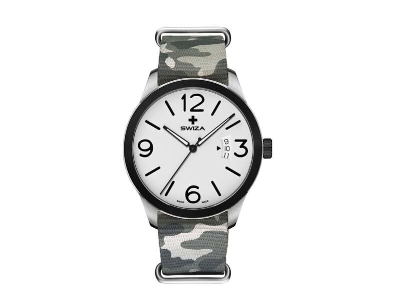SWIZA Armbanduhr MAGNUS, ETA F07.111 Uhrwerk, Stahl 316L 78059