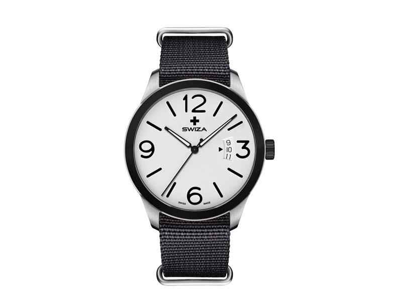 SWIZA Armbanduhr MAGNUS BLACK,  ETA F07.111 Uhrwerk, 316L 78060