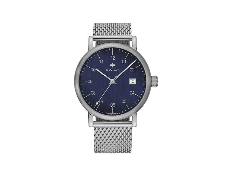 SWIZA Armbanduhr ALZA STEEL, Schweizer Quarzwerk Ronda 515 78064