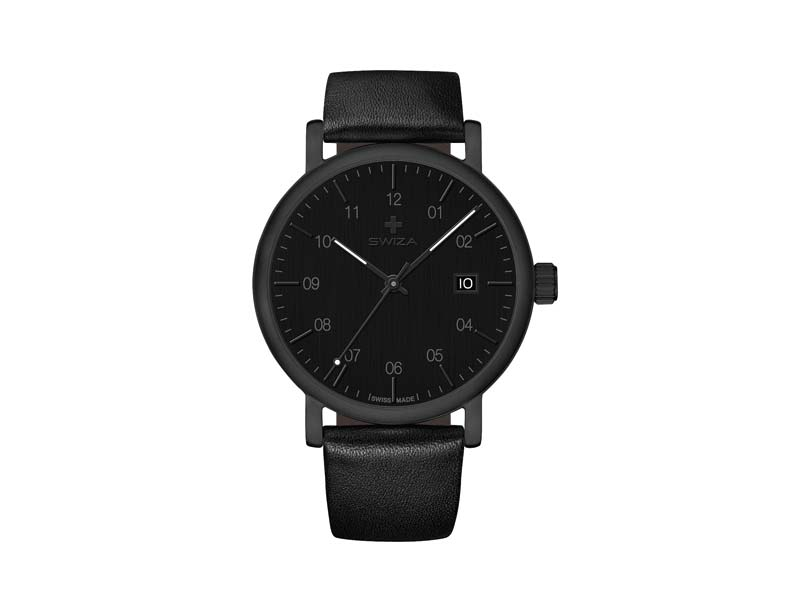 SWIZA Armbanduhr ALZA BLACK, Schweizer Quarzwerk Ronda 515 78065