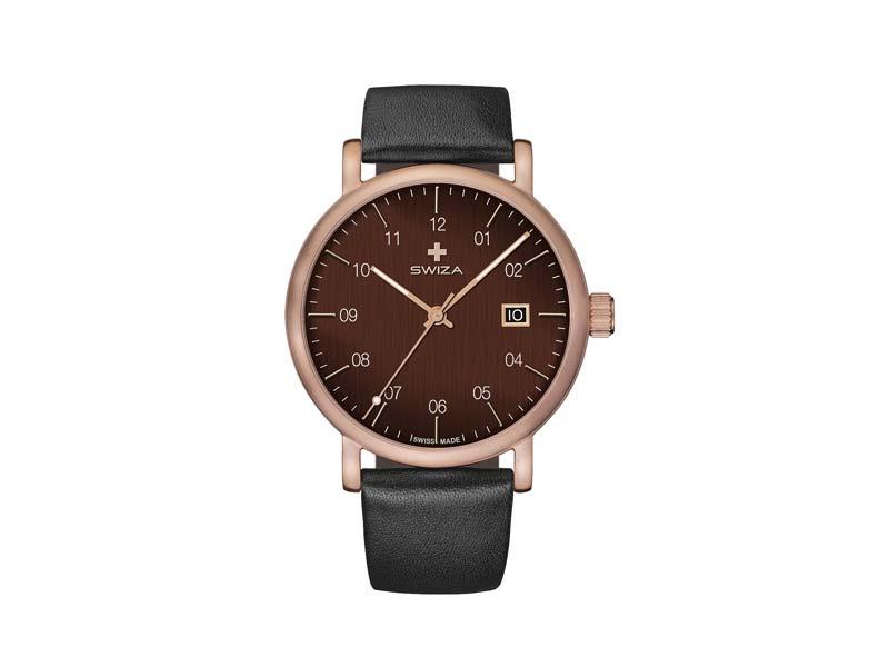 SWIZA Armbanduhr ALZA GREY, Schweizer Quarzwerk Ronda 515, 316L Stahl 78067