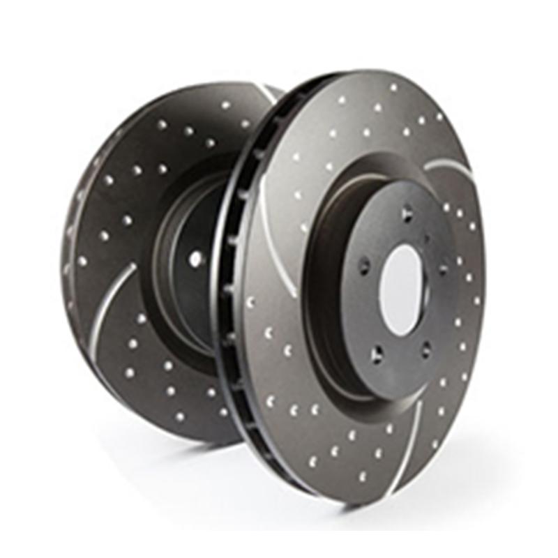 EBC Sport Bremsscheibe GD1410 Turbo Groove Disc Black Hinterachse mit ABE