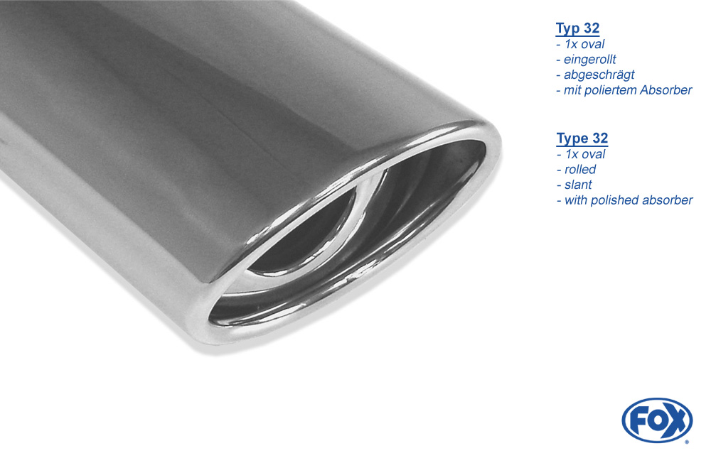 Fox Duplex Endschalldämpfer VW130075-367 für VW T4