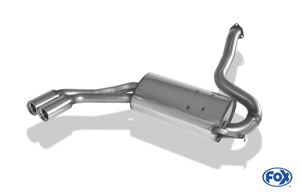 Fox Endschalldämpfer AU010018-068 für Audi 80/90 Typ 81/85