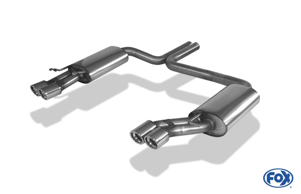 Fox Duplex Endschalldämpfer AU080014-148 für Audi A8/ S8
