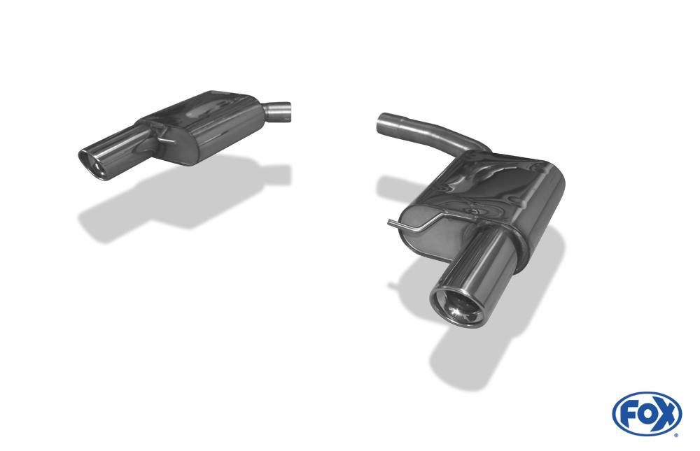 Fox Duplex Endschalldämpfer AU120263-153 für Audi A4/ S4/ RS4