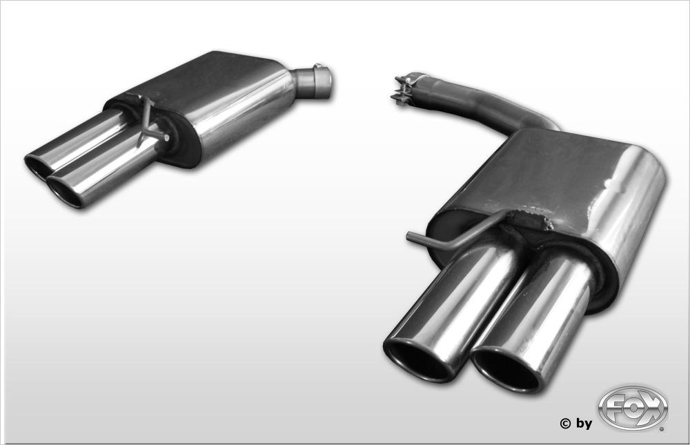 Fox Duplex Endschalldämpfer AU120294-344 für Audi A5/ S5/ RS5