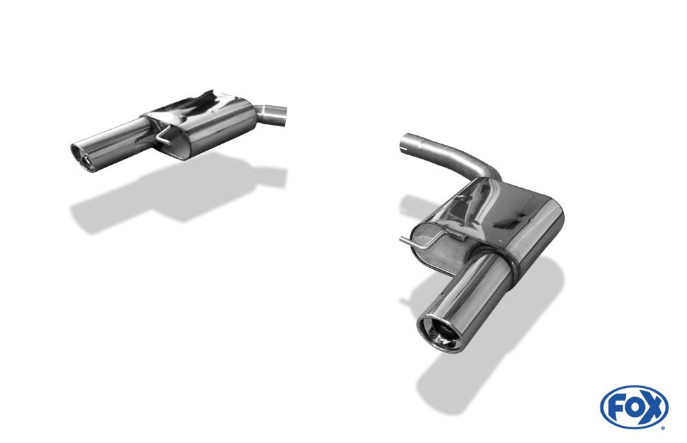 Fox Duplex Endschalldämpfer AU120283-153 für Audi A5/ S5/ RS5