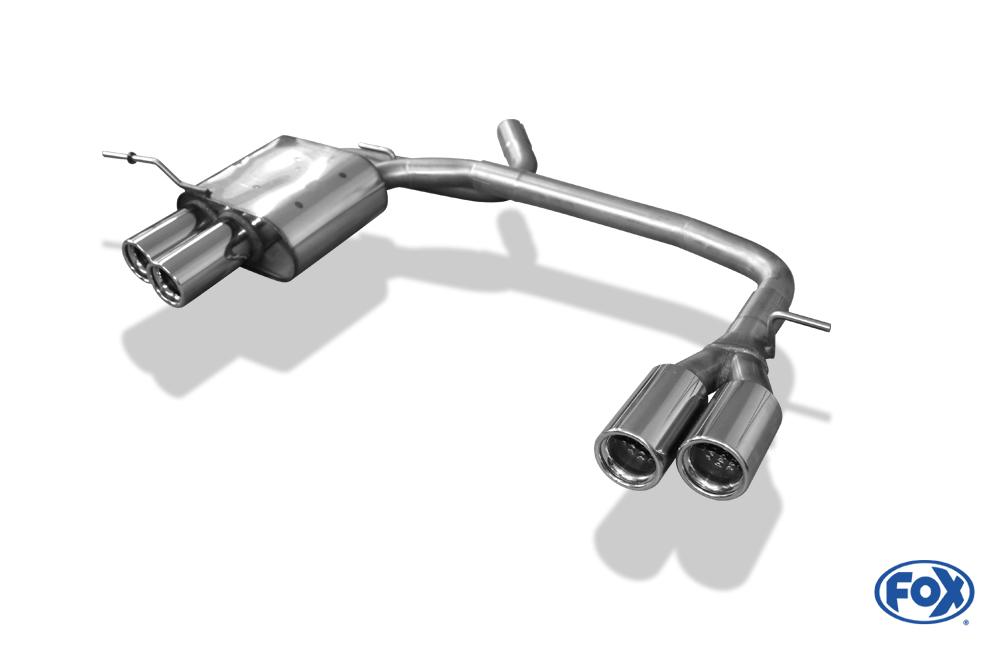 Fox Duplex Endschalldämpfer BM010014-068 für BMW 1er Reihe