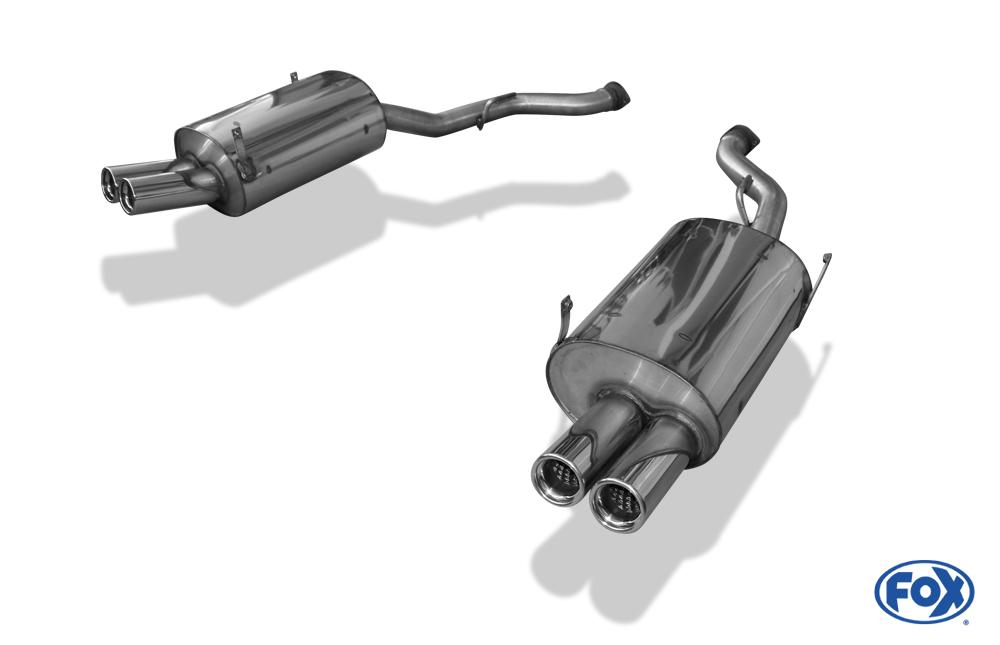 Fox Duplex Endschalldämpfer BM070052-068 für BMW Z3 M