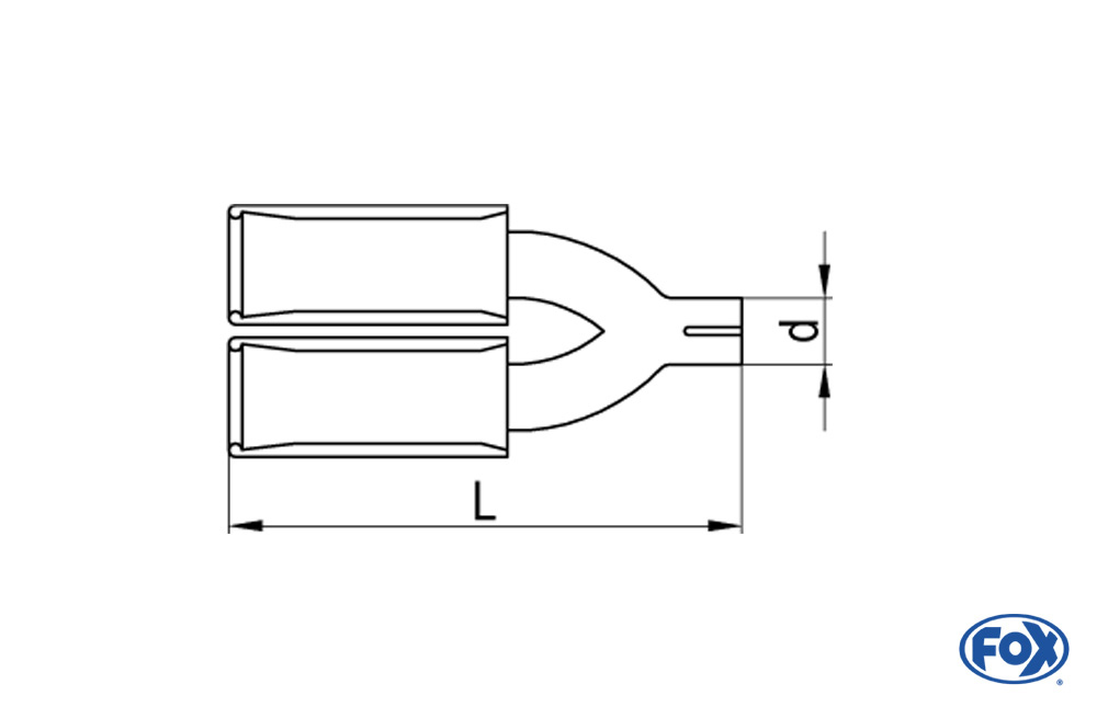 Fox Anschraubendrohr 66-DG-100-L_d_ für Typ 66 Ø 100 mm