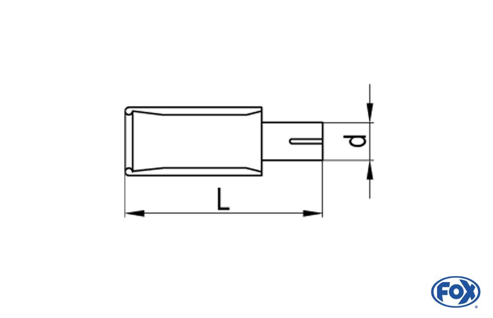 Fox Anschraubendrohr 67-EG-76-L_d_ für Typ 67 Ø 76 mm
