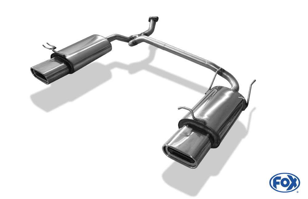 Fox Duplex Endschalldämpfer HY021003-597 für Hyundai Accent