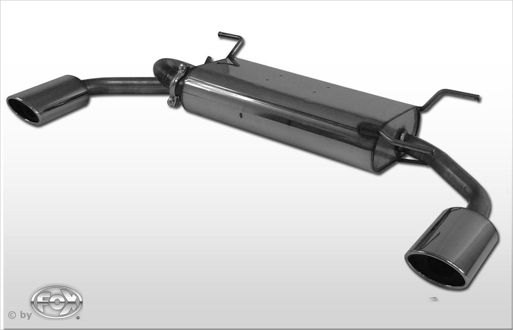 Fox Duplex Endschalldämpfer MA081055-347 für Mazda MX5