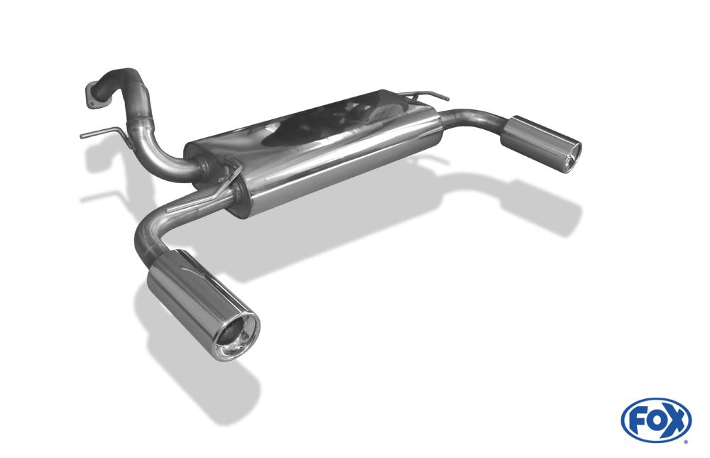 Fox Duplex Endschalldämpfer MA180005-071 für Mazda 5