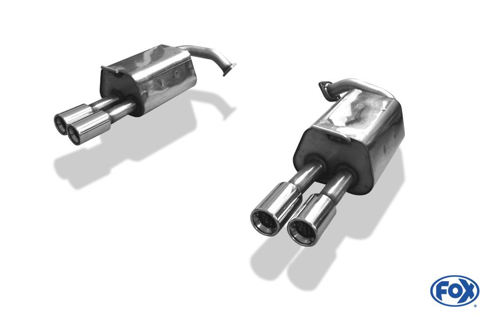 Fox Duplex Endschalldämpfer MA190014-070 für Mazda 6