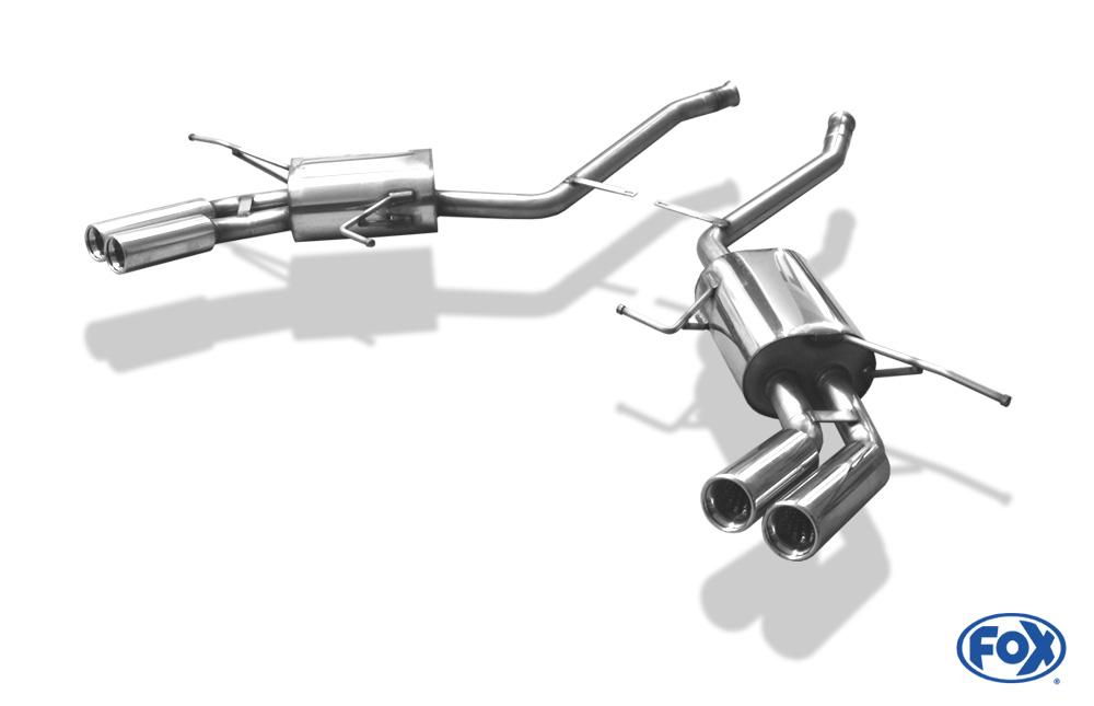 Fox Duplex Endschalldämpfer MB061004-068 für Mercedes M-Klasse