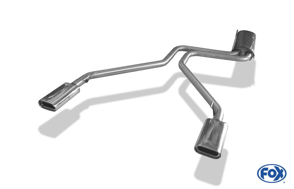 Fox Duplex Endschalldämpfer MB080002-593 für Mercedes Viano/ Vito