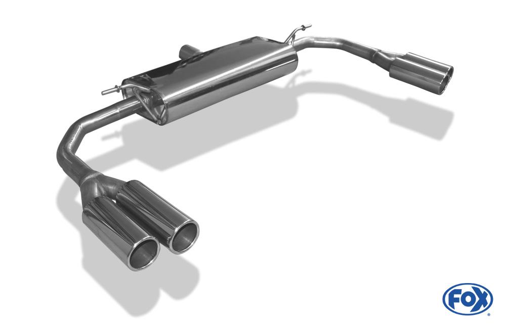 Fox Duplex Endschalldämpfer MB210013-050 für Mercedes CLA