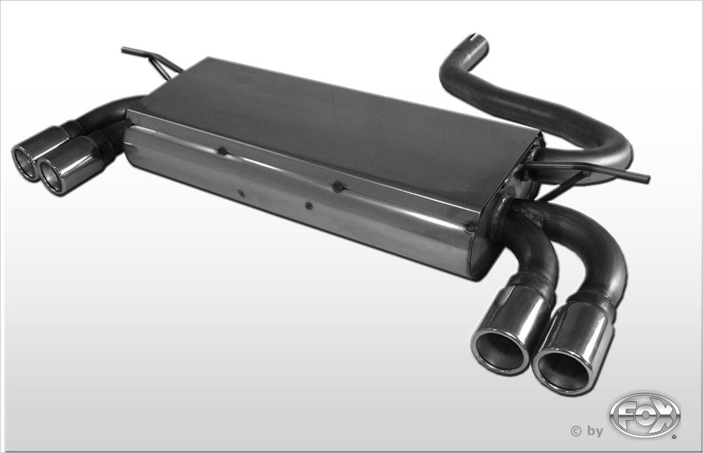 Fox Duplex Endschalldämpfer MN020065-068 für Mini One/ Cooper R50