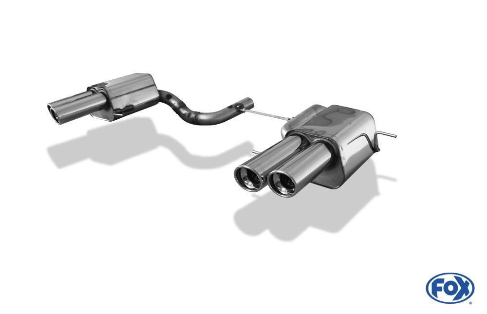 Fox Duplex Endschalldämpfer MS062004-152 für Maserati Quattroporte