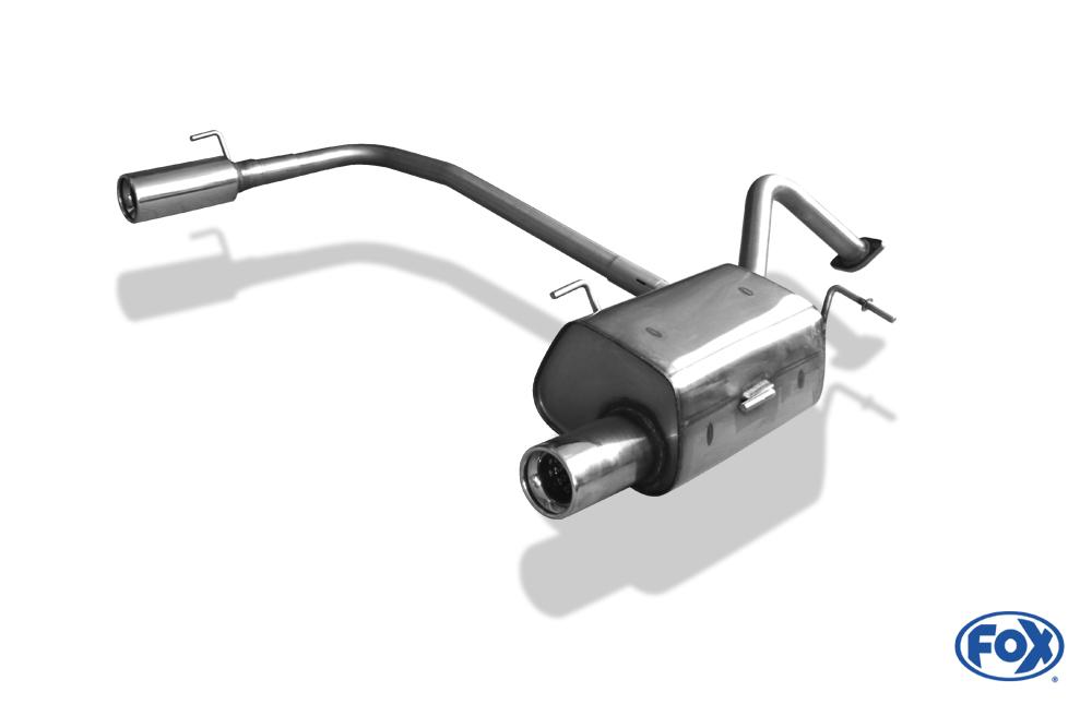 Fox Duplex Endschalldämpfer Endrohre NI011013-069 für Nissan Micra