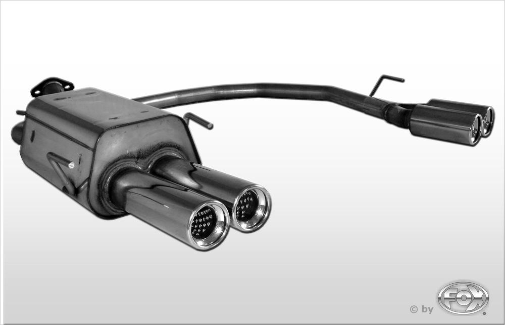 Fox Duplex Endschalldämpfer OP120014-070 für Opel Zafira