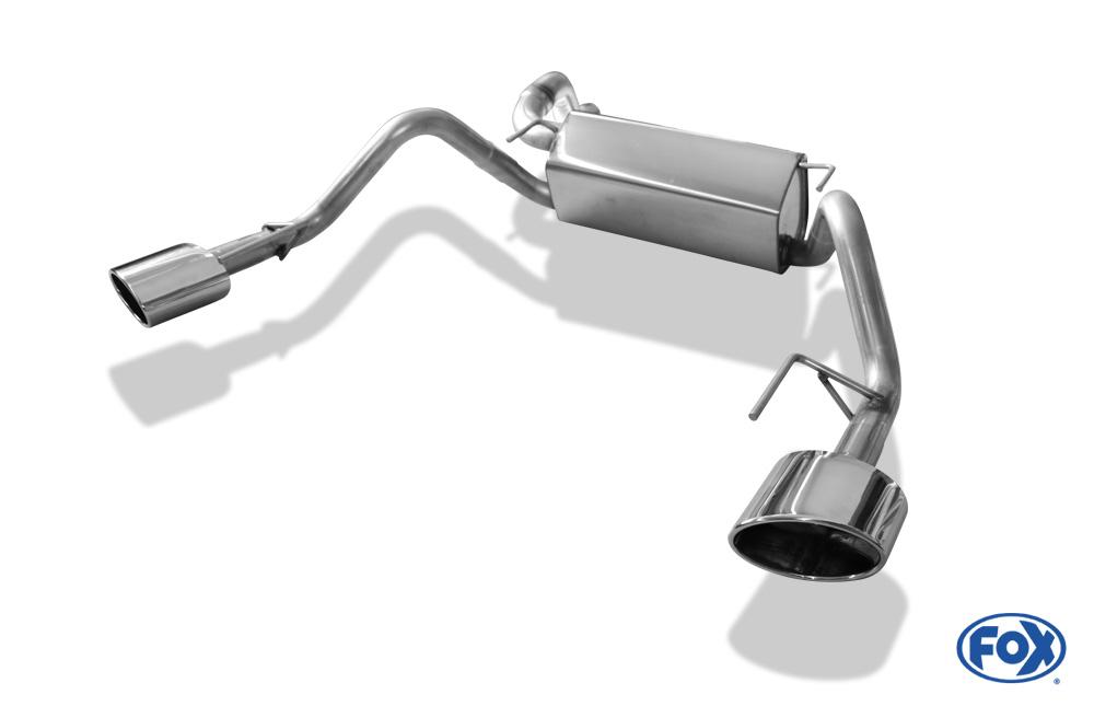 Fox Duplex Endschalldämpfer OP043053-467 für Opel Astra