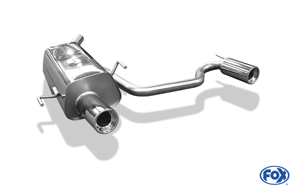 Fox Duplex Endschalldämpfer OP071013-071 für Opel Tigra