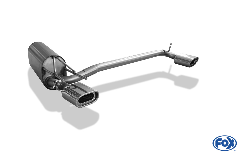 Fox Duplex Endschalldämpfer OP080022-593 für Opel Calibra
