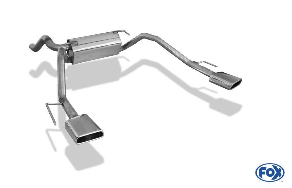 Fox Duplex Endschalldämpfer OP220013-671 für Opel Cascada
