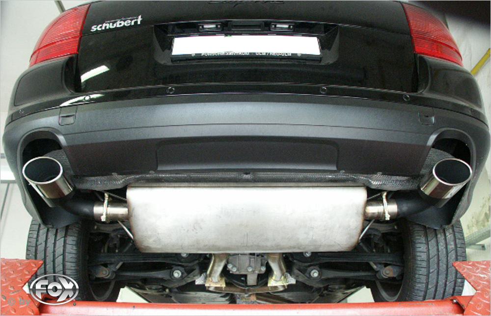 Fox Duplex Endschalldämpfer PO100003-347 für Porsche Cayenne
