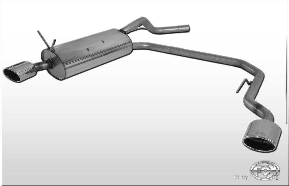 Fox Duplex Endschalldämpfer RE080033-347 für Renault Megane